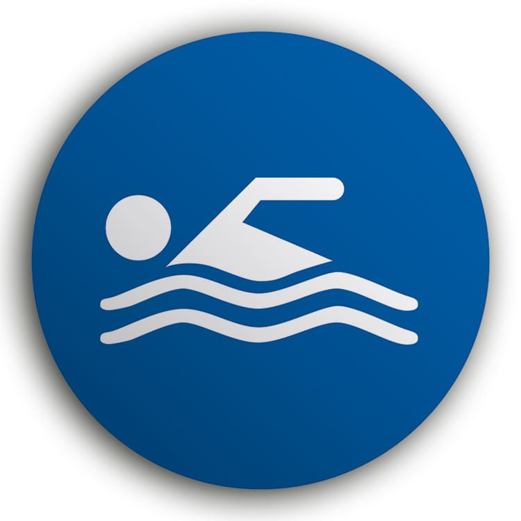 Panneau baignade autorisée