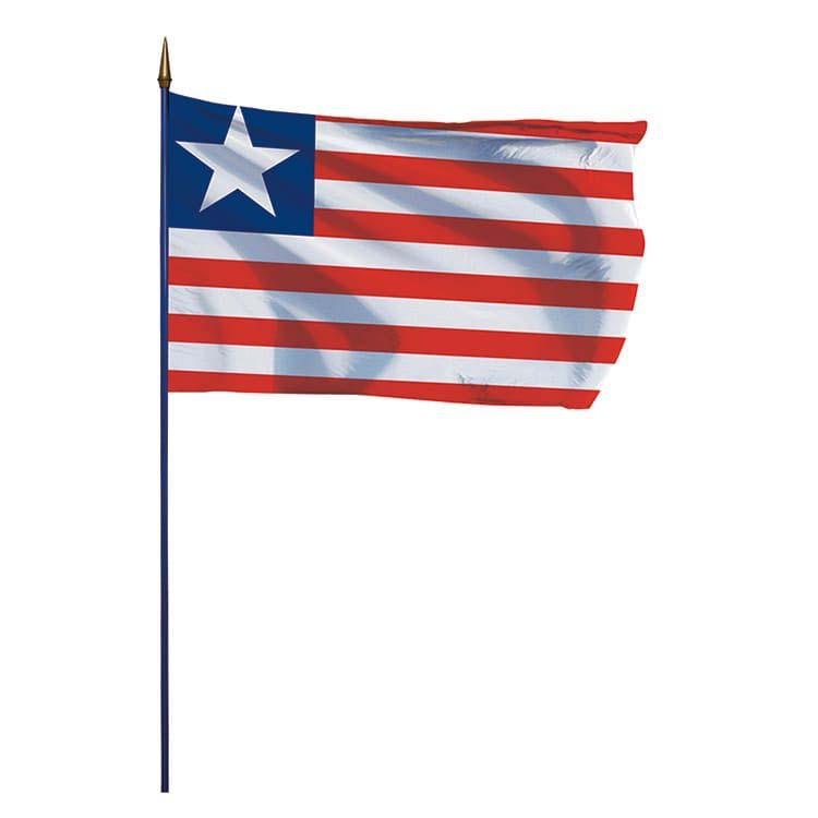 Drapeau Libéria sur hampe