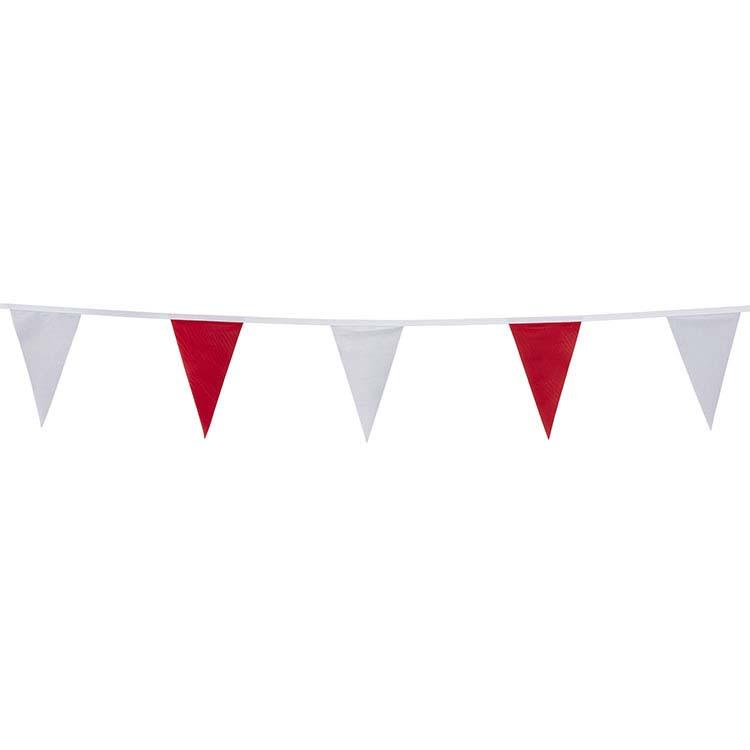 Guirlande tissu rouge et blanc