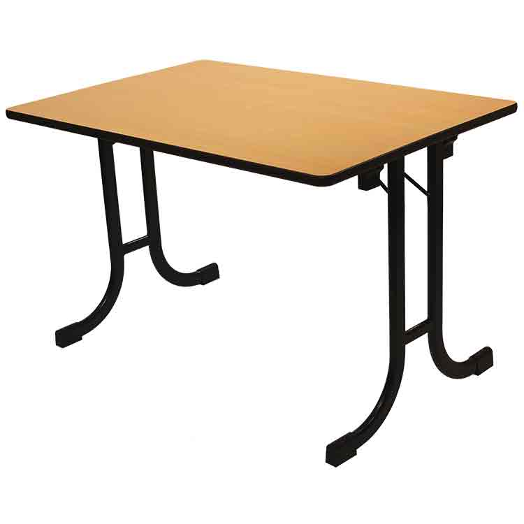 table pliante delta basculante 120 x 80 cm pour salle de r union doublet. Black Bedroom Furniture Sets. Home Design Ideas
