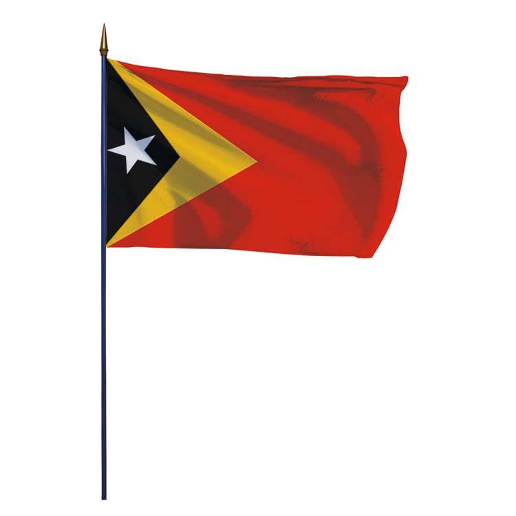 Drapeau Timor-Lesté sur hampe