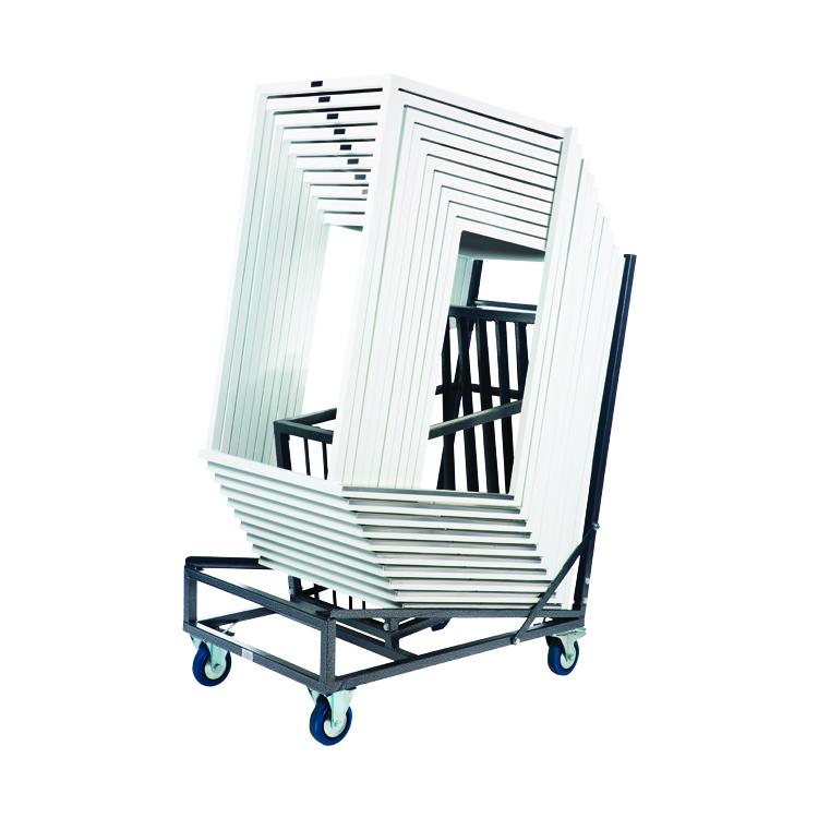 Chariot pour 10 tables hautes Kubo Ferro/Smart