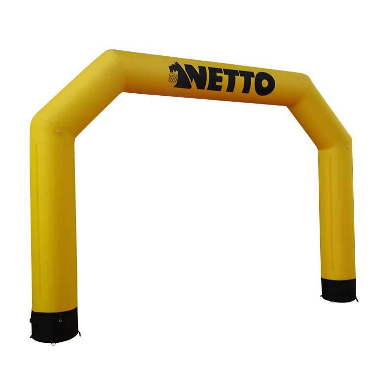 Arche gonflable Pentagonale Reverso avec housse imprimée jaune