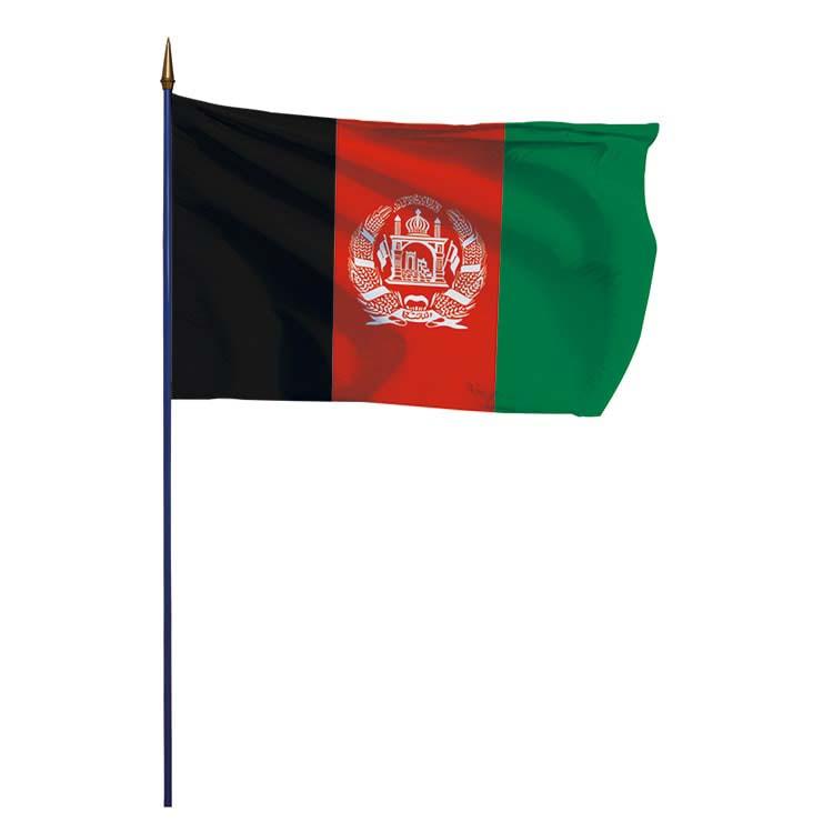 Drapeau Afghanistan sur hampe