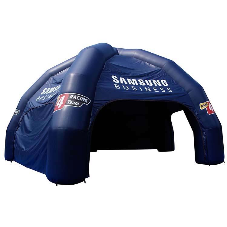 Tente gonflable Arak-5 semi-ouverte