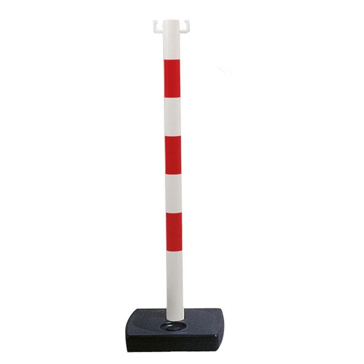 Poteau PVC à poser rouge et blanc