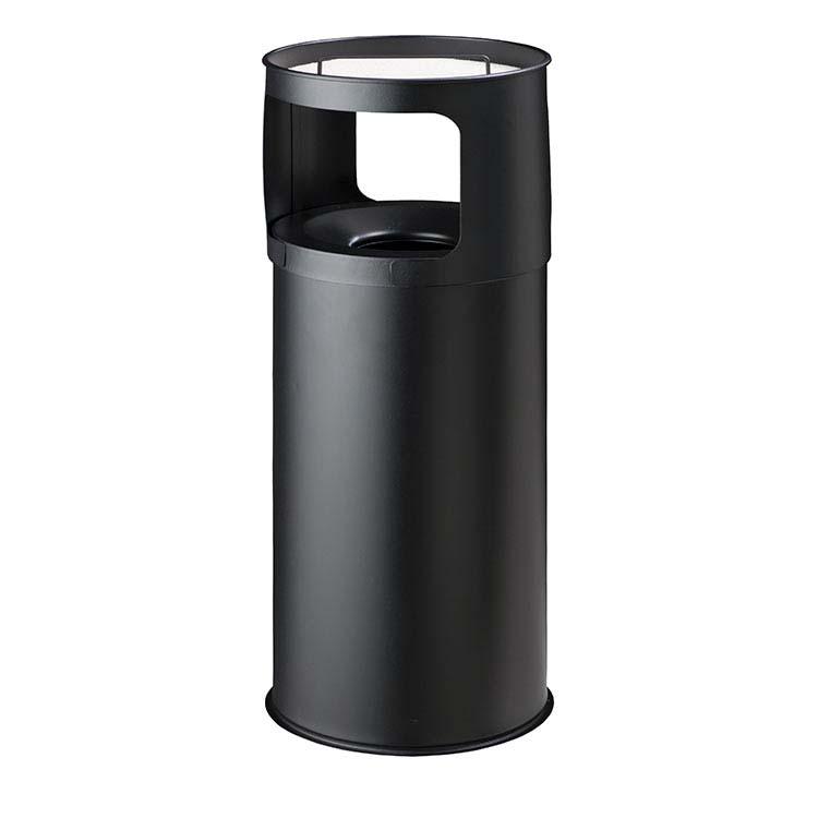 Cendrier Corbeille Autoextint noir - 50 litres