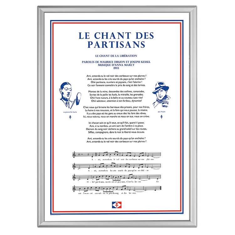 Plaque mural Chant des partisans
