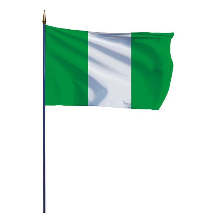 Drapeau Nigéria sur hampe