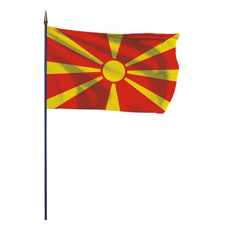 Drapeau Macédoine sur hampe