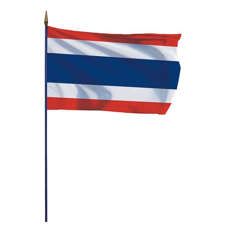 Drapeau Thaïlande sur hampe