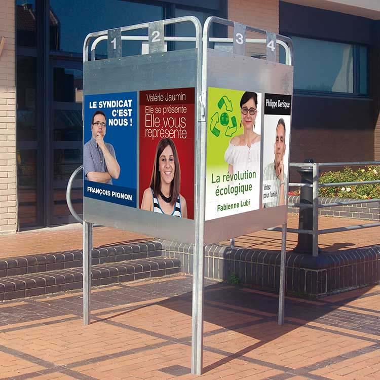 Panneau d'affichage électoral extérieur