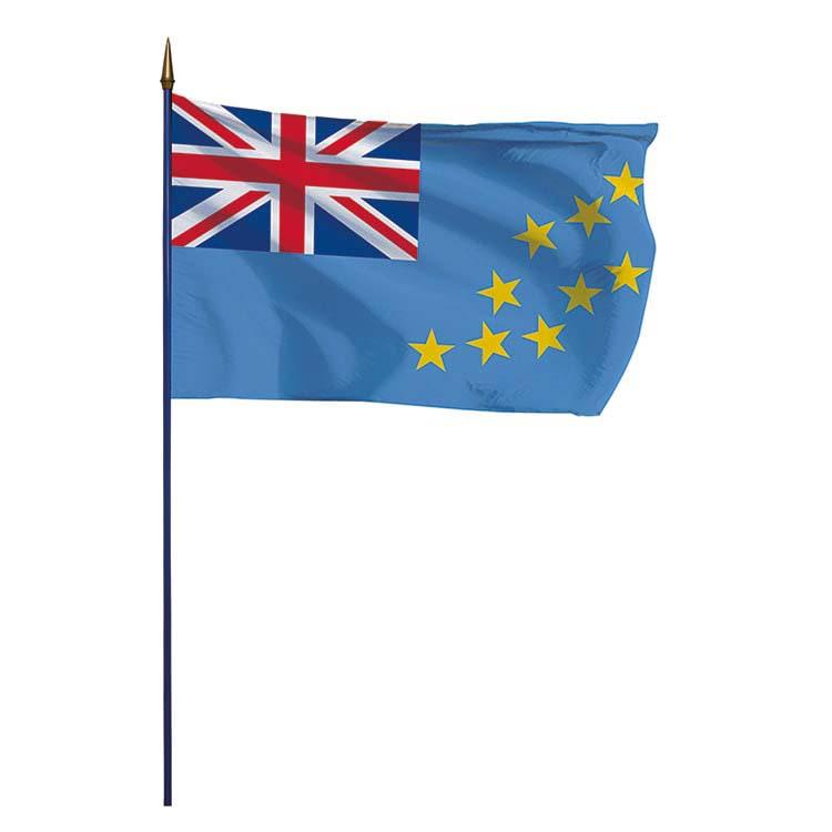 Drapeau Tuvalu sur hampe