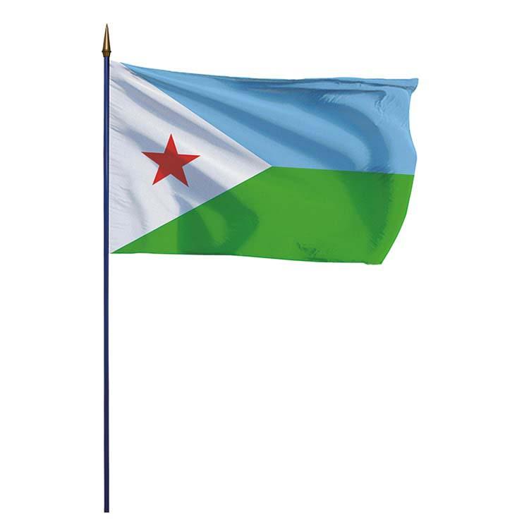 Drapeau Djibouti sur hampe
