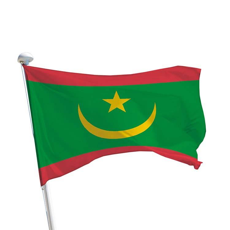 Drapeau de la Mauritanie pour mât