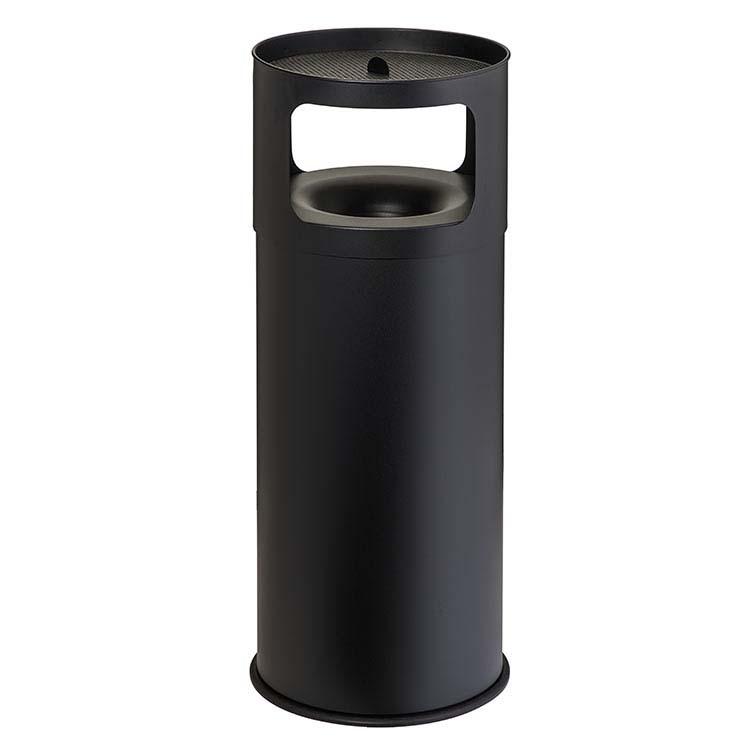 Cendrier Corbeille Autoextint noir - 90 litres