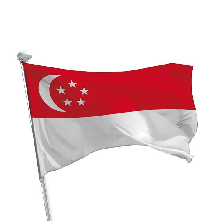 Drapeau Singapour pour mât