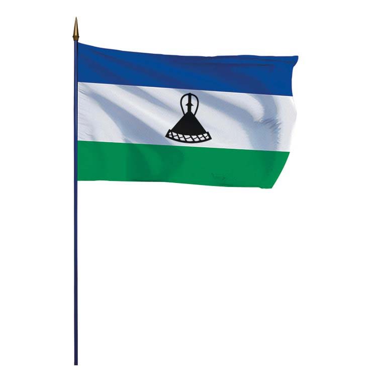 Drapeau Lesotho sur hampe