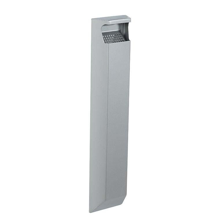 Cendrier mural Arkea gris métal 9006 - 3 litres
