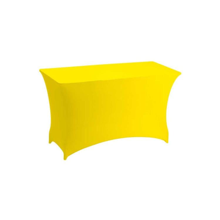 ousse stretch jaune pour table pliante rect. 122 x 76 cm