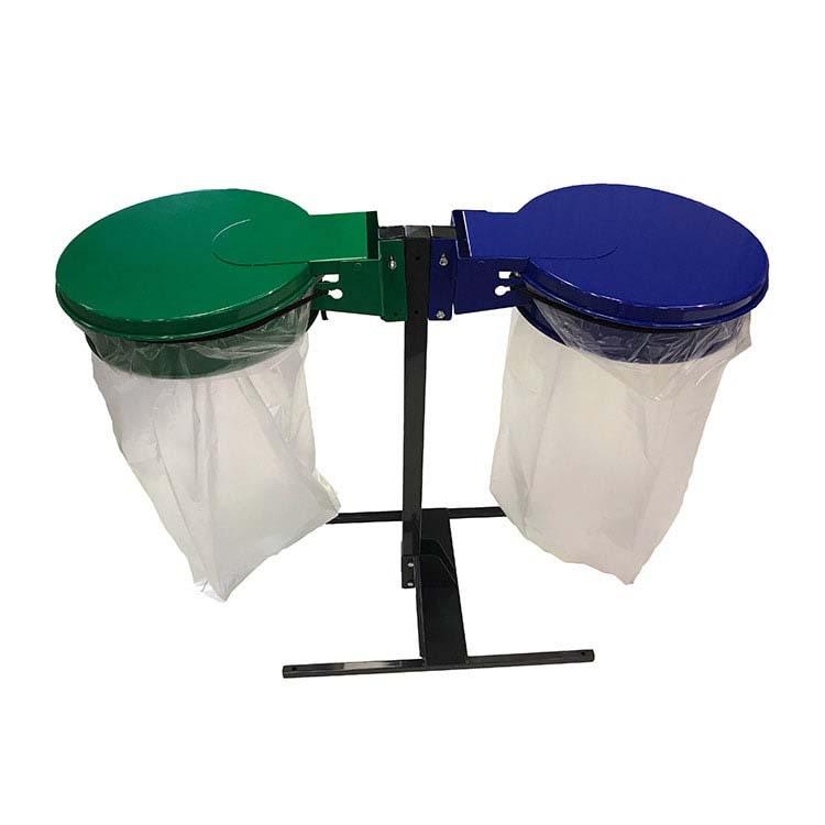 Support sac-poubelle Plain Double Flux avec sacs