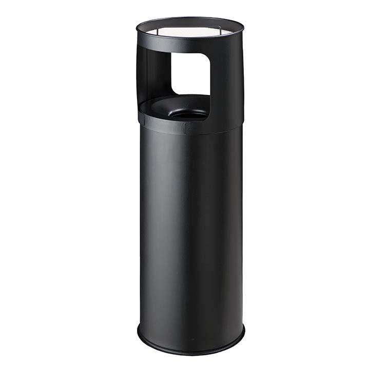 Cendrier Corbeille Autoextint noir - 30 litres