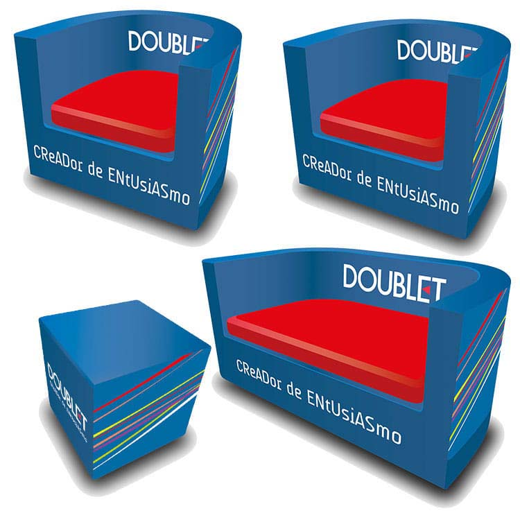Pack mobilier personnalisable 4 pièces tissu