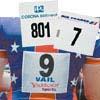 Dossards numérotés en papier 3 couleurs