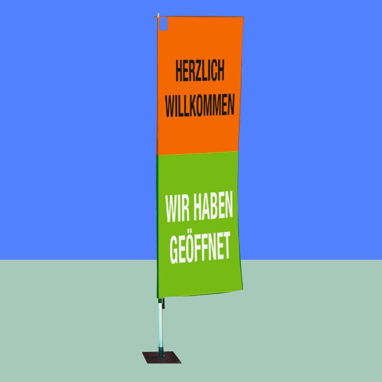 Beachflag Corner Öffnung