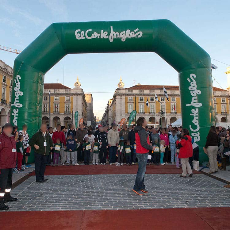 Arche gonflable course sportive