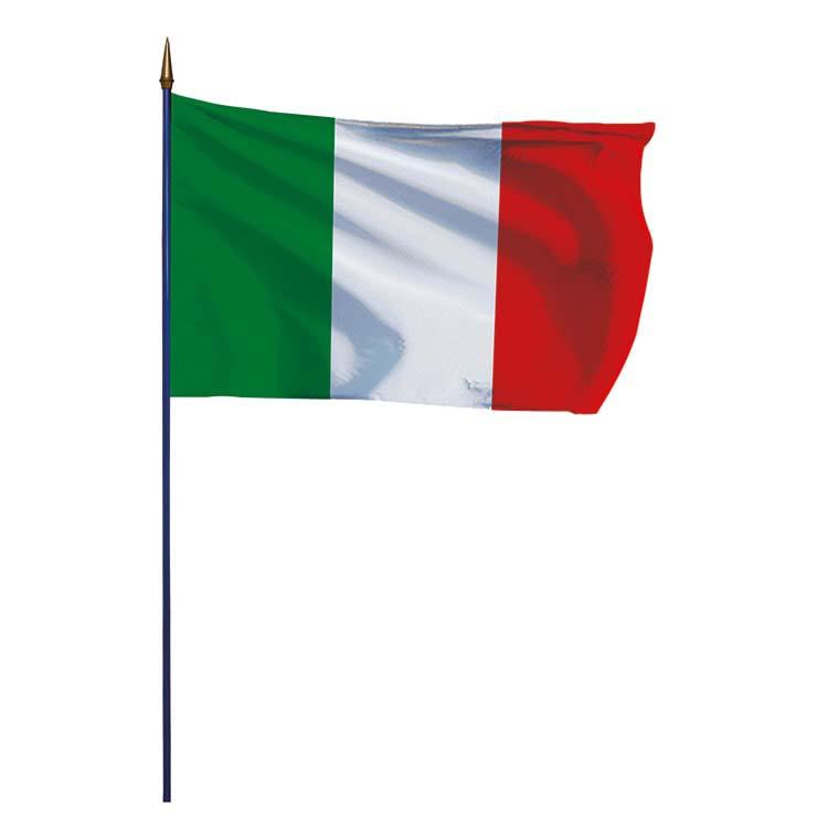 Drapeau Italie sur hampe