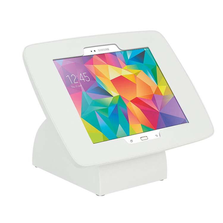 Borne d'accueil blanche pour tablette numérique