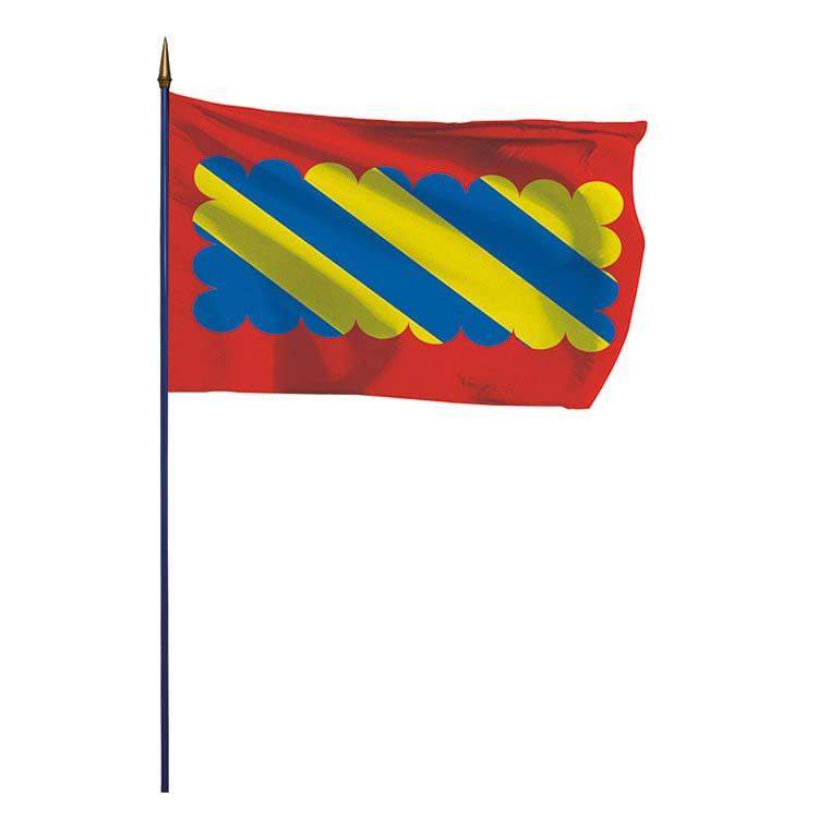 Drapeau  province du Nivernais sur hampe