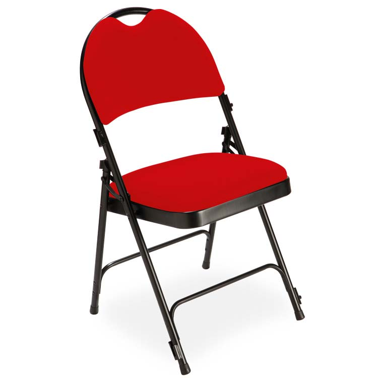 Chaise 2600 velours M1 rouge