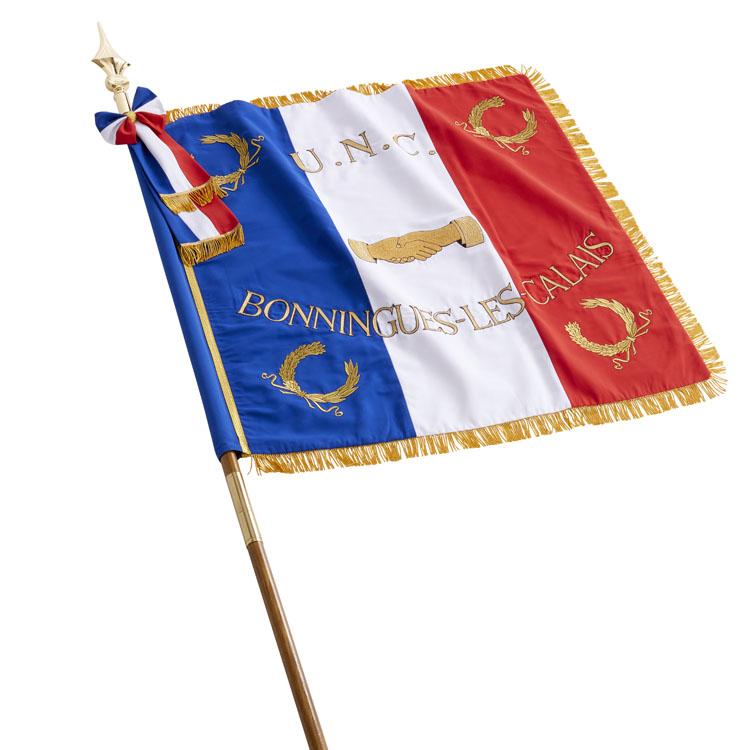 Frange drapeau de défilé français