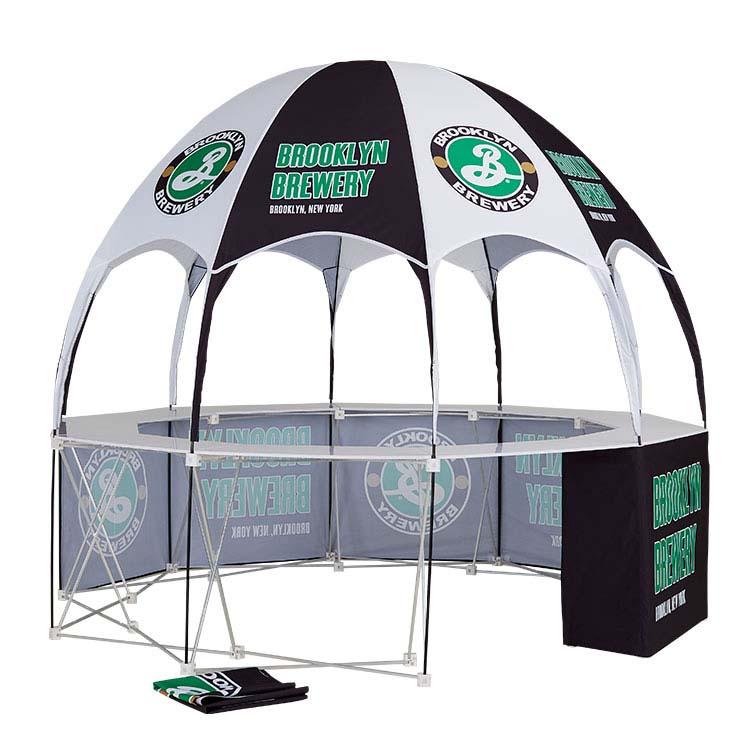 Structure et toile de tente publicitaire
