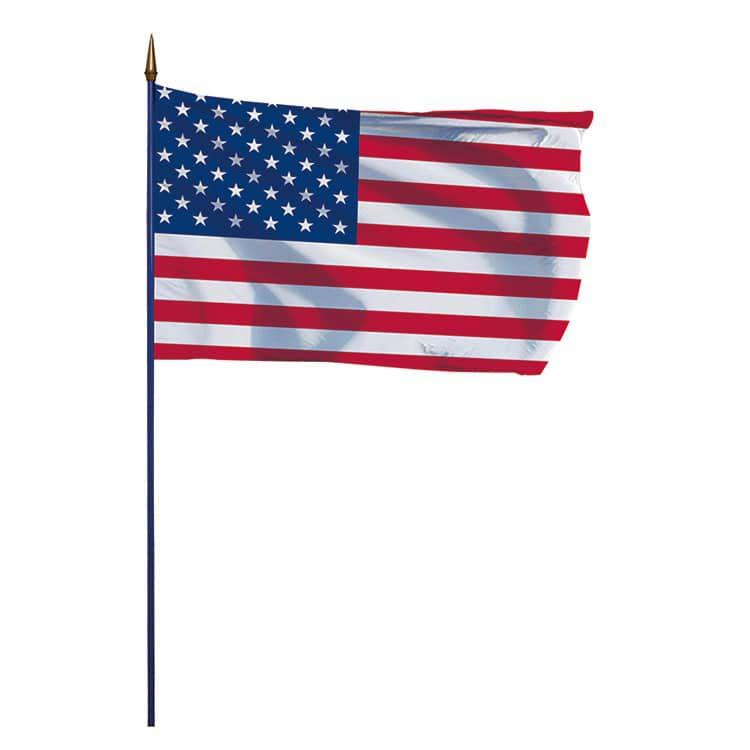 Drapeau Etats-Unis sur hampe