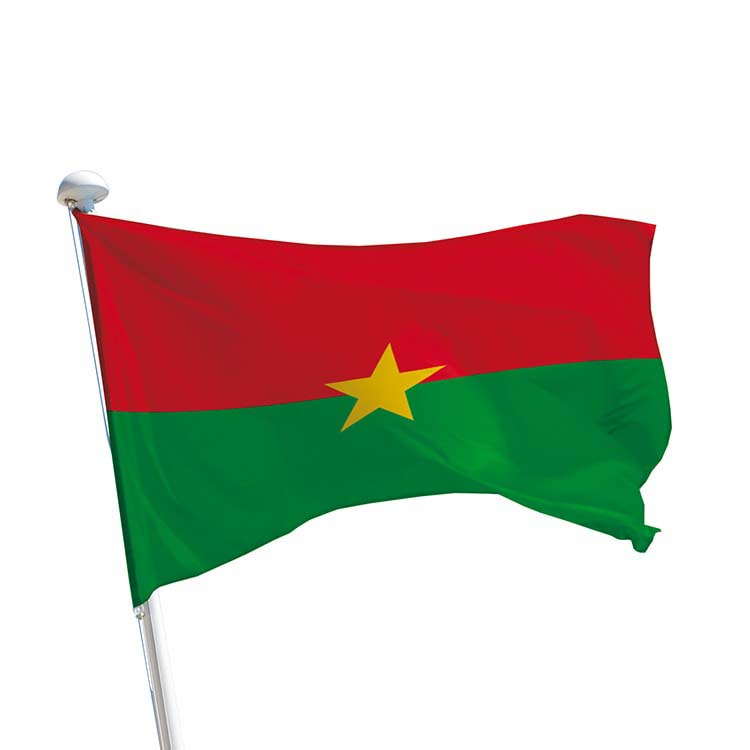 Drapeau Burkina Faso pour mât