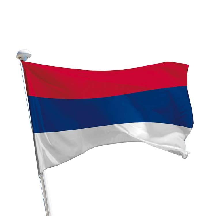 Drapeau de la Serbie pour mât