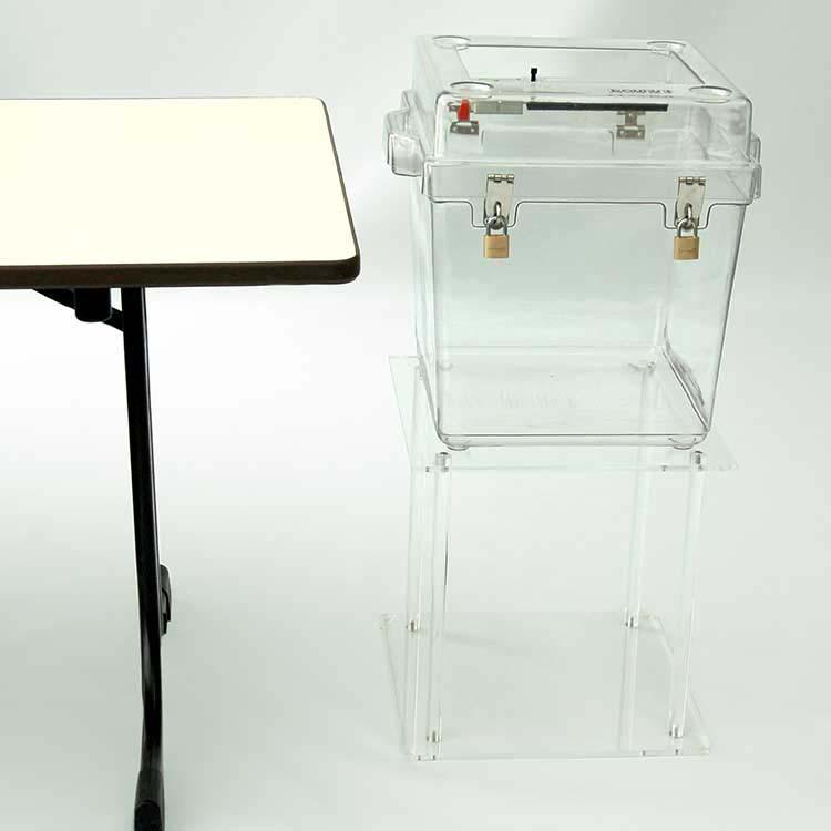 Console transparente pour urne