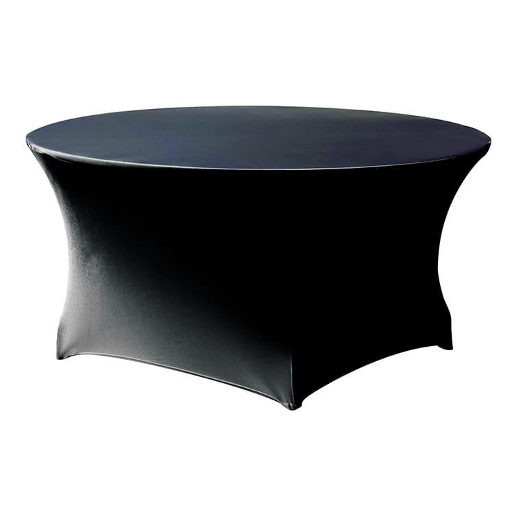 Housse stretch pour table pliante ronde