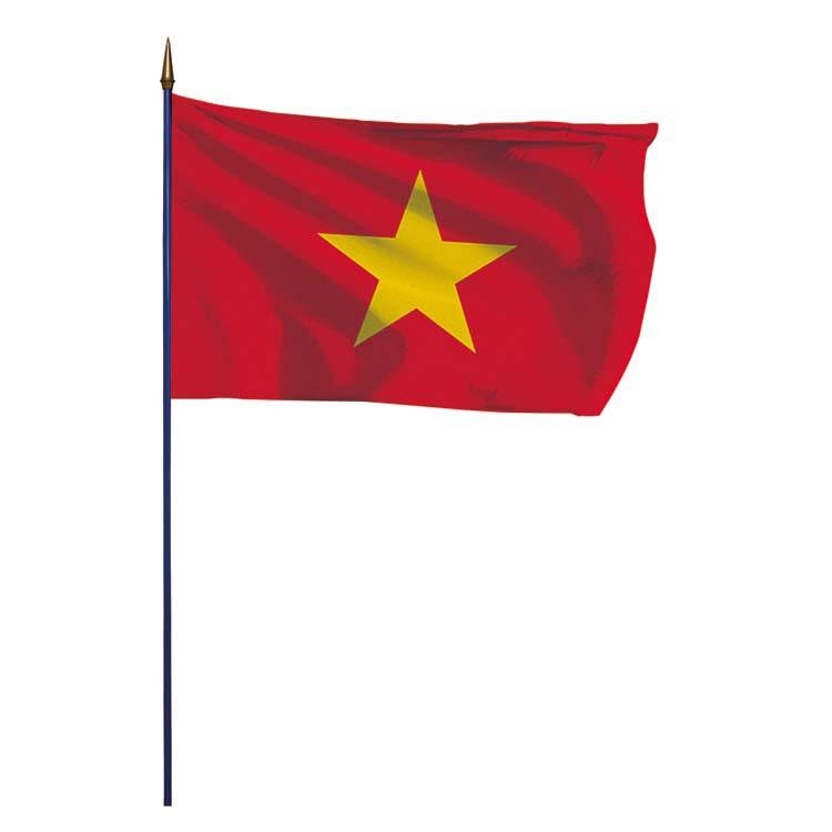 Drapeau Vietnam sur hampe