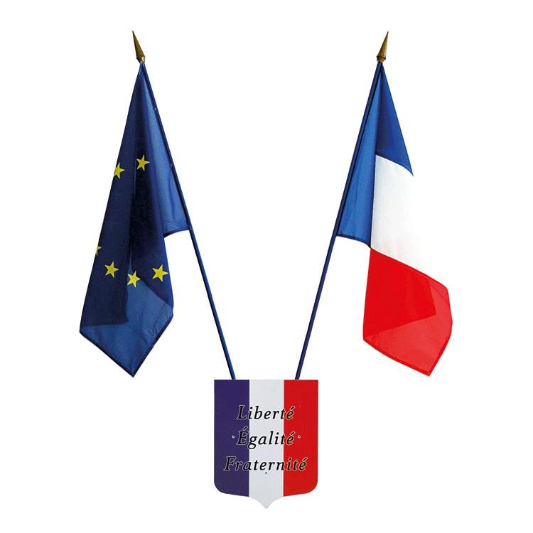 Platine orte-drapeaux Liberté Egalité Fraternité