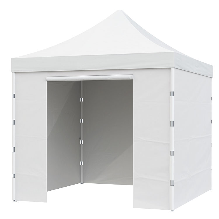 Tente pliante Eos fermée - Toile Polyester unie blanche