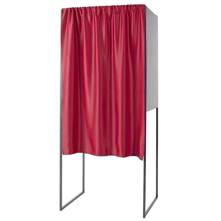 Rideau rouge opaque pour isoloir en polyester M1