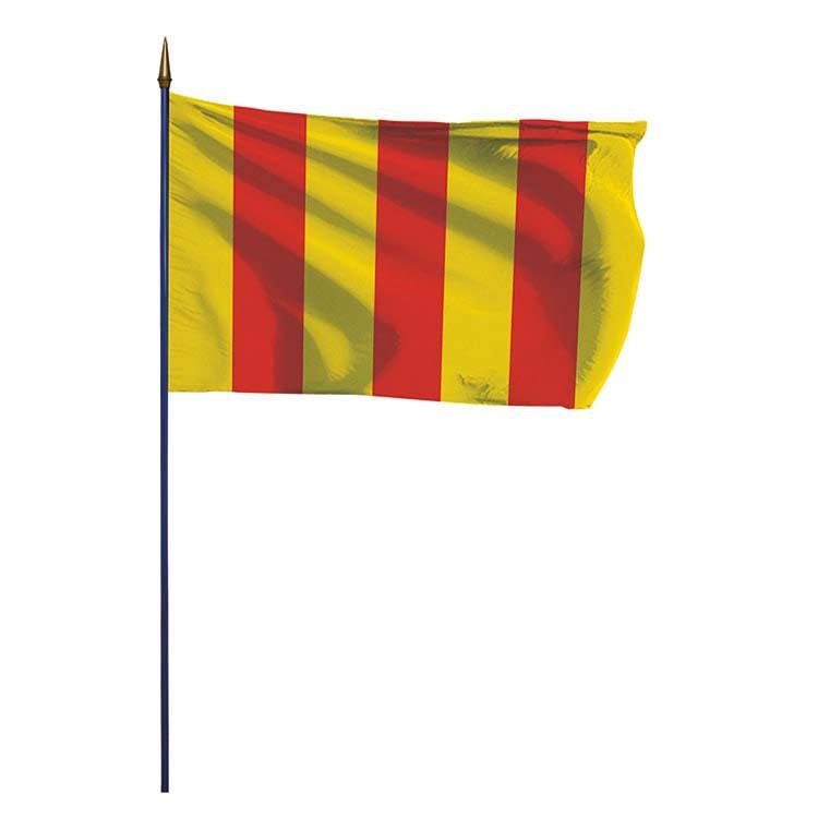 Drapeau province du Comté de Foix sur hampe
