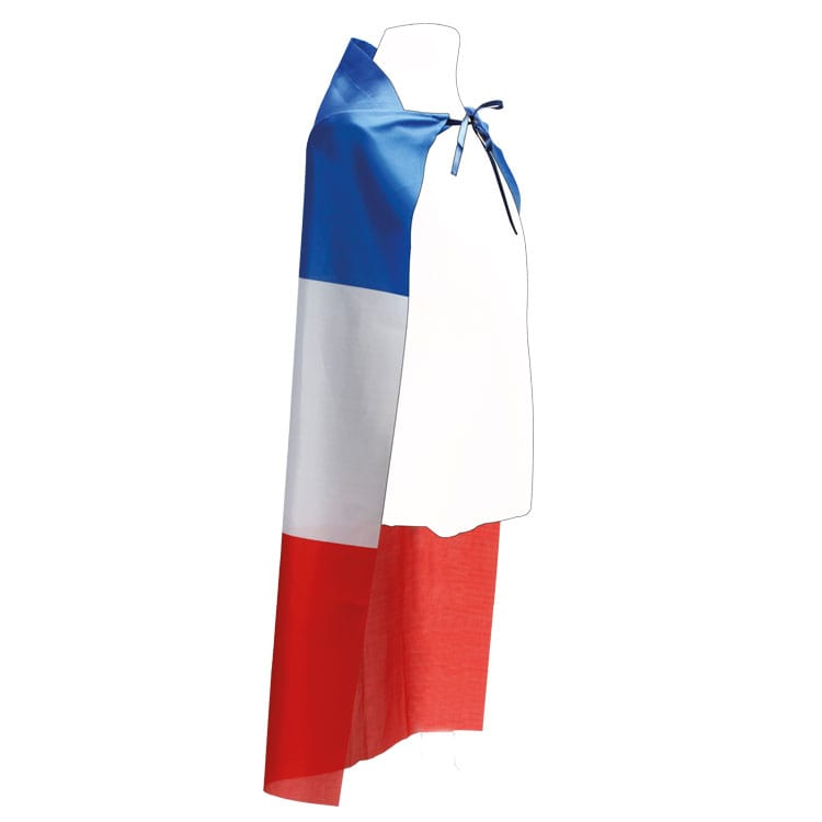 Cape poncho tricolore pour supporters