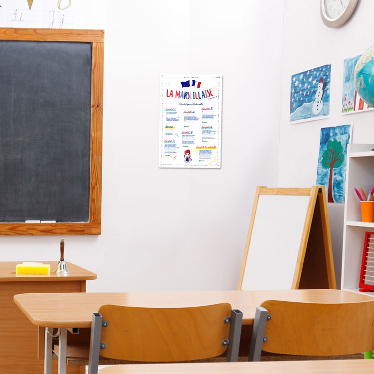 Plaque pvc loi blanquer pour école