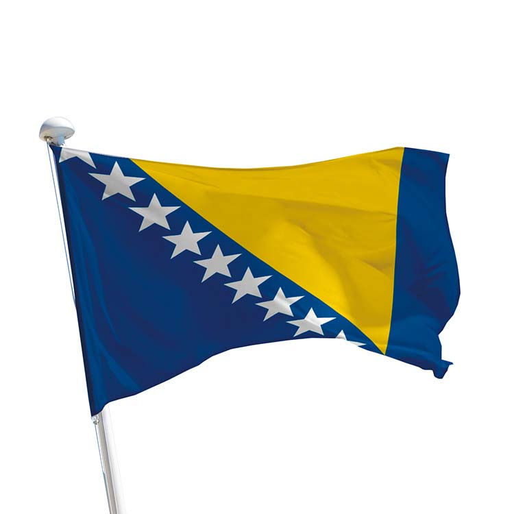 Drapeau Bosnie-Herzégovine pour mât
