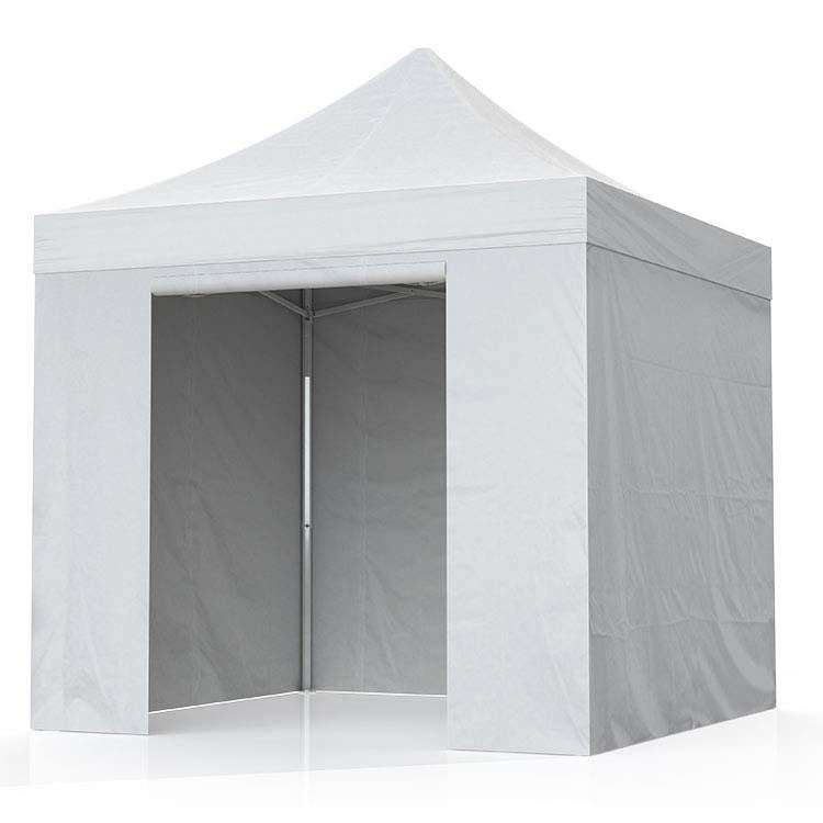 Tente Eos fermée 3 x 3 m - bâche PVC unie blanche